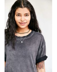 Pins And Needles - Black Freedom Washed Tunic Tee - Lyst