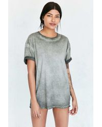 Pins And Needles - Green Freedom Washed Tunic Tee - Lyst
