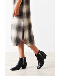 Urban Outfitters | Black Stef Double Zipper Ankle Boot | Lyst