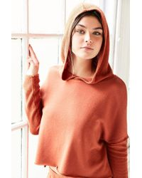 Out From Under - Multicolor Cropped Washed Hoodie Sweatshirt - Lyst