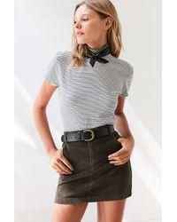 BDG | Green Sybale Corduroy Mini Skirt | Lyst