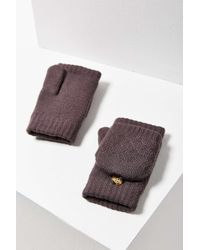 Urban Outfitters - Purple Plush Convertible Fingerless Glove - Lyst