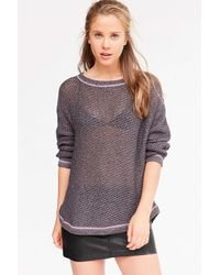 Kimchi Blue | Gray Lea Lace-up Pullover Sweater | Lyst