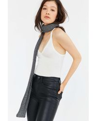 Urban Outfitters | Gray Metallic Skinny Knit Scarf | Lyst