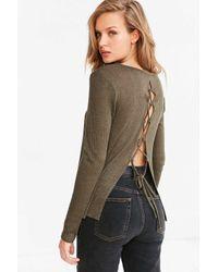 Kimchi Blue - Multicolor Hazel Lace-trim V-neck Sweater - Lyst