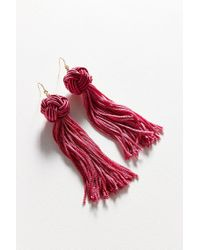 Vanessa Mooney - Red The Astrid Knotted Tassel Earrings - Lyst