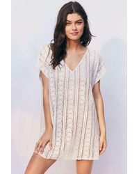 Out From Under | White Lace Caftan Cover-up | Lyst