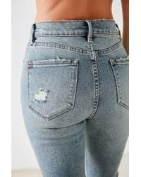 BDG - Blue Twig Crop High-rise Skinny Jean - Distressed Patch - Lyst