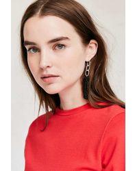 Urban Outfitters   Black Yara Chain Tassel Statement Earring   Lyst