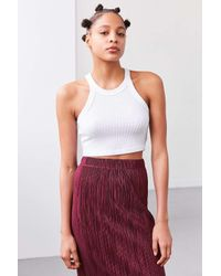 Truly Madly Deeply | White Blakeley High Neck Cropped Top | Lyst