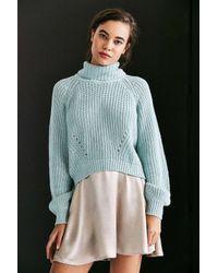 Kimchi Blue | Blue Noah Balloon-sleeve Turtleneck Sweater | Lyst