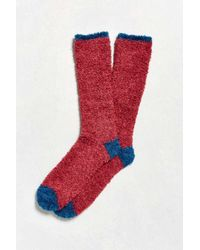 Urban Outfitters | Red Fuzzy Boot Sock | Lyst