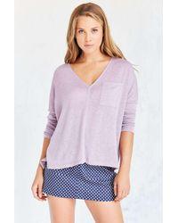 BDG | Purple Blake V-neck Pocket Pullover Sweater | Lyst