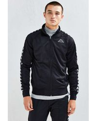 2c630d900294 Lyst - Urban Outfitters Kappa Slim Track Jacket in Black for Men