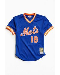Mitchell & Ness | Blue New York Mets Jersey for Men | Lyst