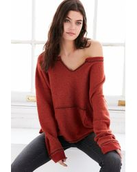 Project Social T - Red X Out From Under Beach Terry Pullover Sweatshirt - Lyst