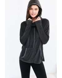 Project Social T | Gray X Out From Under Cowl Neck Hoodie Sweatshirt | Lyst