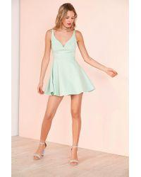 Kimchi Blue - Green Heart Of The Ocean Sweetheart Mini Dress - Lyst