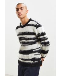 Urban Outfitters - Black Uo Shaggy Pattern Sweater for Men - Lyst