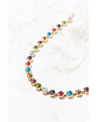 Urban Outfitters - Multicolor Eleni Rainbow Choker Necklace - Lyst