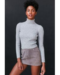 BDG | Gray Cassandra Ribbed Turtle Neck Sweater | Lyst