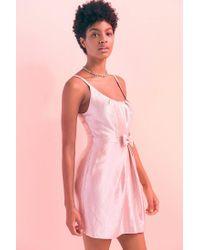 Kimchi Blue - Pink Taylor Shimmer Bow Waist Mini Dress - Lyst
