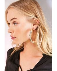 Urban Outfitters | Metallic Statement Chain Hoop Earring | Lyst