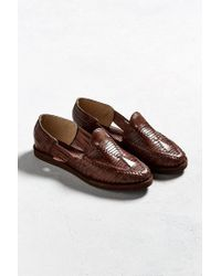 d856d798e286 Lyst - Chamula Cancun Huarache Woven Leather Shoe in Brown for Men