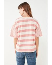 BDG | Pink Boston Oversized Striped Ringer Tee | Lyst