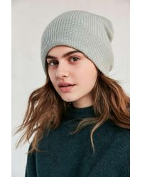 Urban Outfitters | Green Cozy Rib Knit Beanie | Lyst