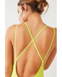 Out From Under - Green Printed Scoop Back One-piece Swimsuit - Lyst