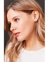Urban Outfitters | Blue Genuine Stone Hoop Earring | Lyst