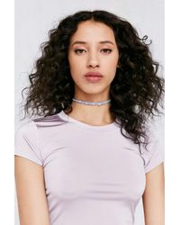 Urban Outfitters | Blue Beaded Hemp Choker Necklace | Lyst