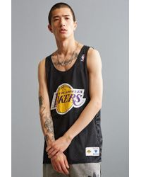 5dc6a09de Lyst - Mitchell   Ness Nba Los Angeles Lakers Mesh Jersey in Black ...