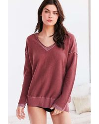Truly Madly Deeply | Red V-neck Pullover Sweatshirt | Lyst