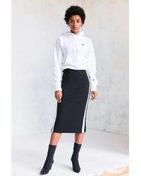 Silence + Noise | Black Athletic Stripe Midi Skirt | Lyst