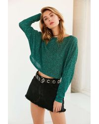Silence + Noise | Green Andy Dolman-sleeve Sweater | Lyst