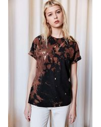Urban Renewal | Black Recycled Destroyed Bleached Short-sleeved Tee | Lyst