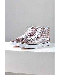 1709cabd19b Vans Chunky Glitter Sk8-hi Slim Sneaker in Blue - Lyst