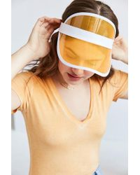 Urban Outfitters - Yellow Crystal Visor - Lyst