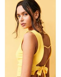 Silence + Noise | Yellow Tie-back Apron Top | Lyst