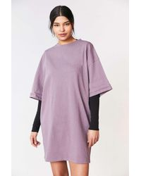 Silence + Noise | Purple Buster Cocoon Tee Dress | Lyst