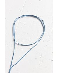 Urban Outfitters | Blue Denim Wrap Choker Necklace | Lyst