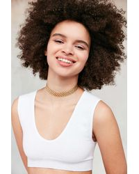 Urban Outfitters | Metallic Metal Lattice Band Choker Necklace | Lyst