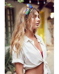 BDG - Multicolor Jena Tie-front Blouse - Lyst