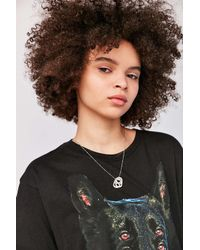 Urban Outfitters | Metallic Tab Pendant Necklace | Lyst