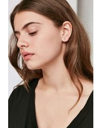 Urban Outfitters | Metallic 18k Gold-plated Rhinestone Icon Post Earring | Lyst