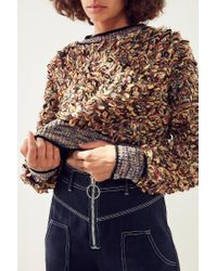 Kimchi Blue | Multicolor Boucle Cropped Pullover Sweater | Lyst