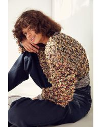 Kimchi Blue - Multicolor Boucle Cropped Pullover Sweater - Lyst