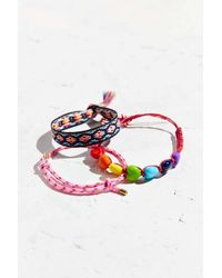 Urban Outfitters | Pink Friendship Bracelet Set | Lyst